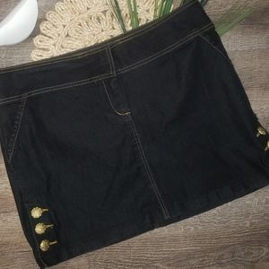 Bisou Bisou Denim Mini Skirt Stretch Material